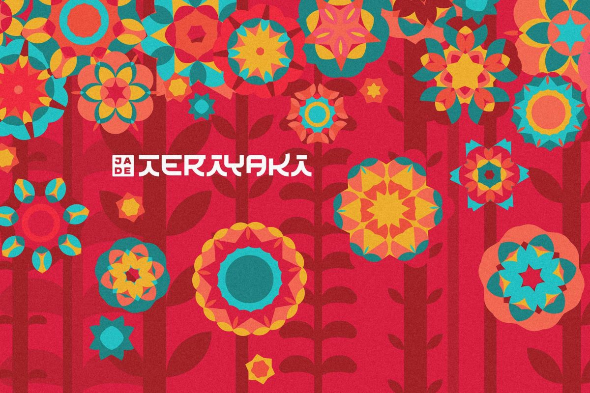 fellowmarks Jade Teriyaki illustrated flower mural rebranding