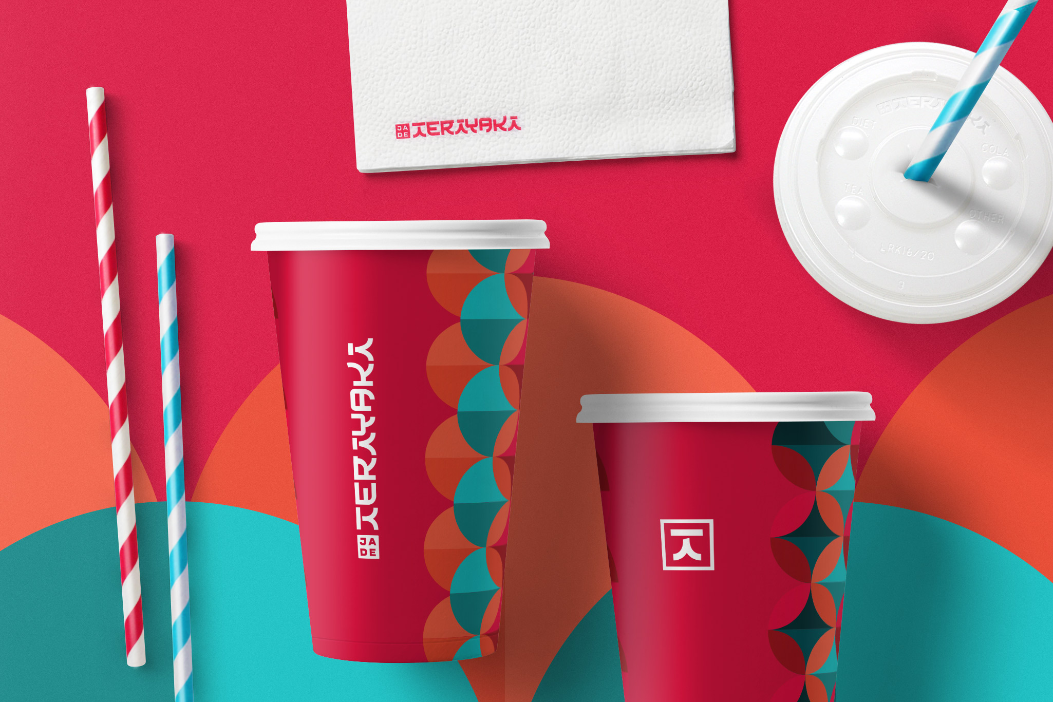 fellowmarks Jade Teriyaki Rebranding branded cups napkins